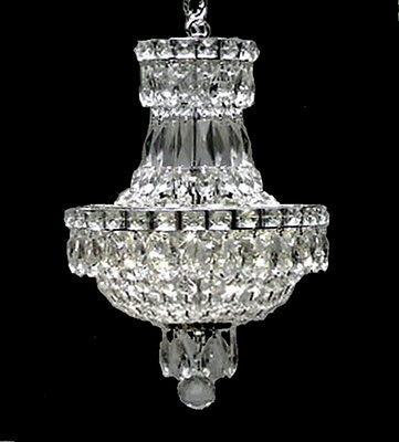 FRENCH EMPIRE CRYSTAL CHANDELIER LIGHTING 3 LIGHTS FIXTURE PENDANT CEILING LAMP