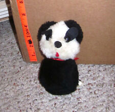 LUCKY DOG vtg plush Made in Korea toy 1960s carnival prize beat-up fair doll
