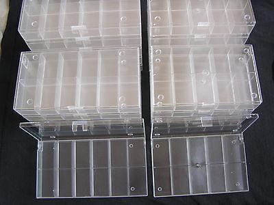 20 Stück Ü-Eier Setzkästen - Sammelboxen, 10 x 10er + 10 x 12er transparent