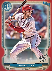 2020 Topps BUNT Trea Turner Gypsy Queen RED Base ICONIC! [DIGITAL CARD}