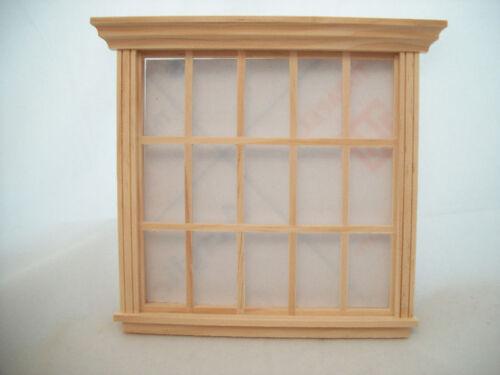 15-Light w// trim 1//12 scale wooden dollhouse miniature 5061 Houseworks Window