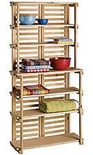 Wooden Bakers Rack 6 Shelf Wood Retail Floor Display Merchandiser 70 X 34