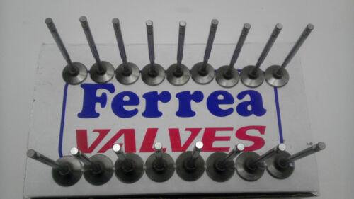 1MM OS Valves Honda K20 K20A2 K20Z K24 K24A RSX Acura Turbo Ferrea 6000 Series