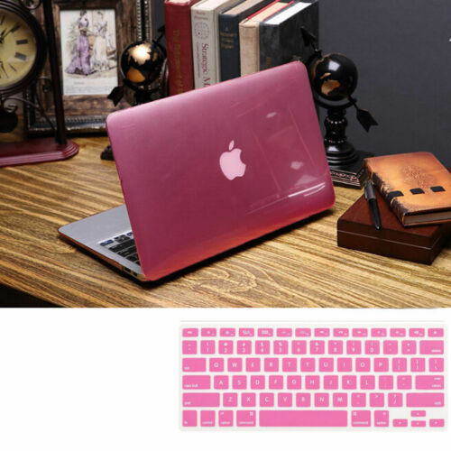 "Crystal Shiny Hard Case Shell+Keyboard Cover for MacBook PRO AIR 11/"" 12/"" 13/"" 15/"""