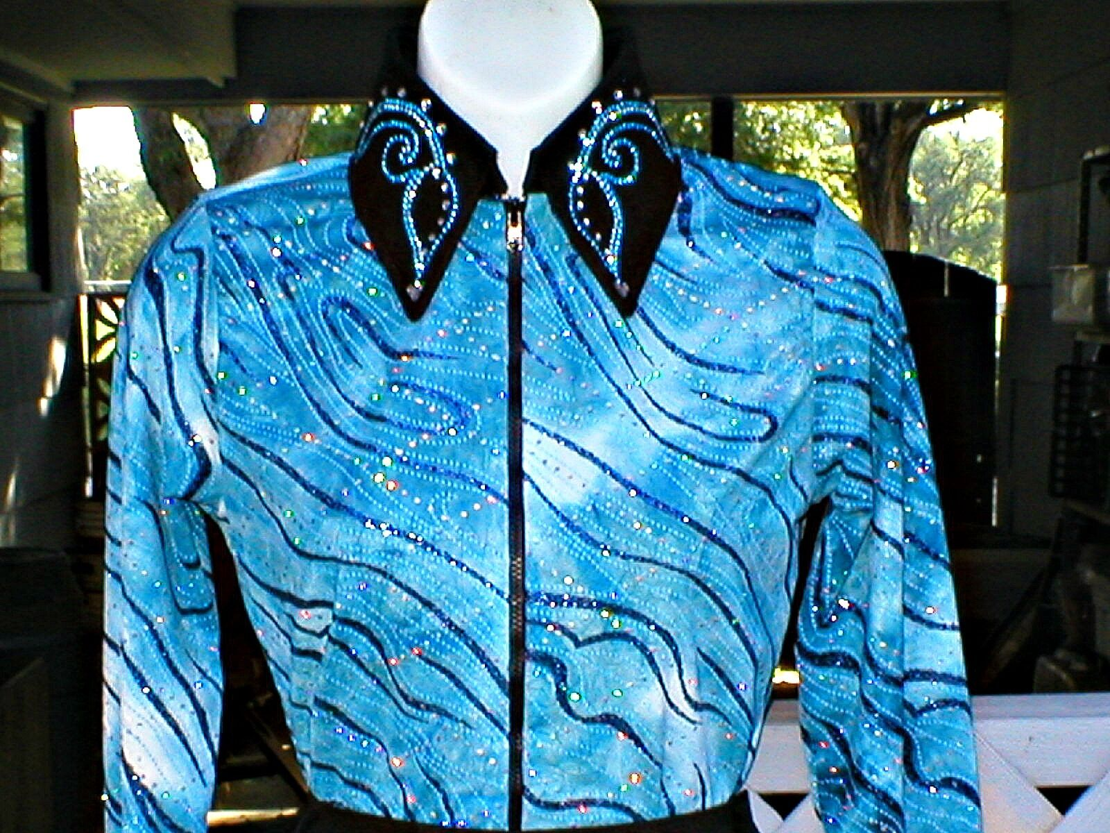 Girls Western Rail, Glamor, Reining, Trail, Rodeo Shirt in 5 color Choices
