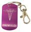 Personalised-Fibromyalgia-Medical-Alert-Purple-Tag-SOS-Keyring-ENGRAVED-FREE thumbnail 1