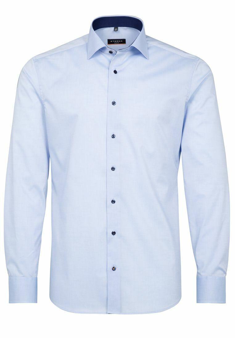 Eterna-Slim fit-bügellfreies Uomo camicia manica lunga (67cm) (8888 f140)