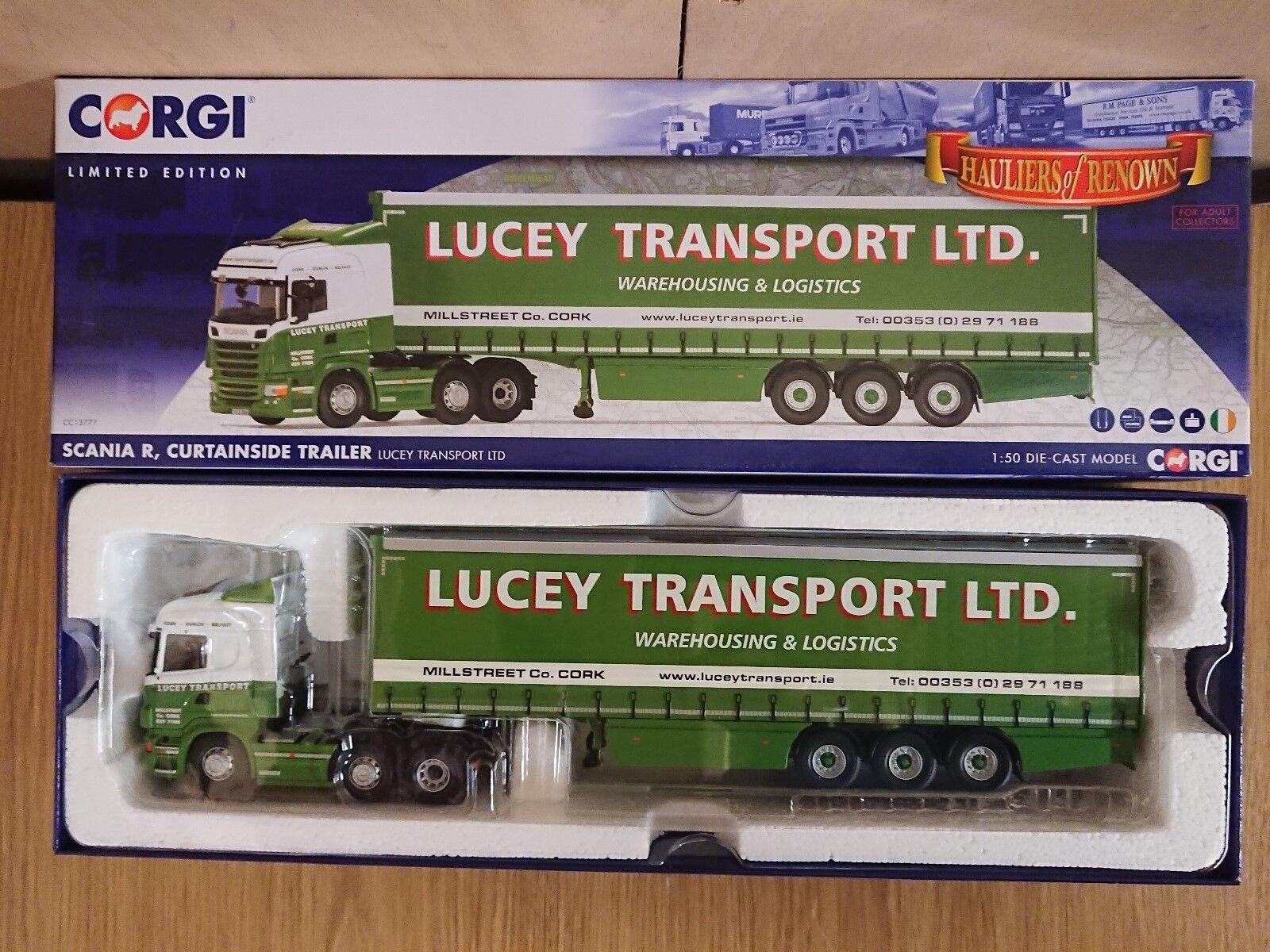 Corgi CC13777 Scania R Curtainside Tjärnväger Lucey Transort Ltd Ed 173 av ENDAST 800