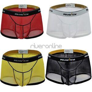 Manview Herren Boxer Shorts weiss