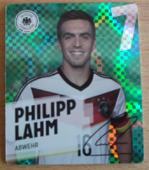 REWE Glitzer WM 2014 Sammelkarte/Glitzerkarte Nr. 7 Philip Lahm -