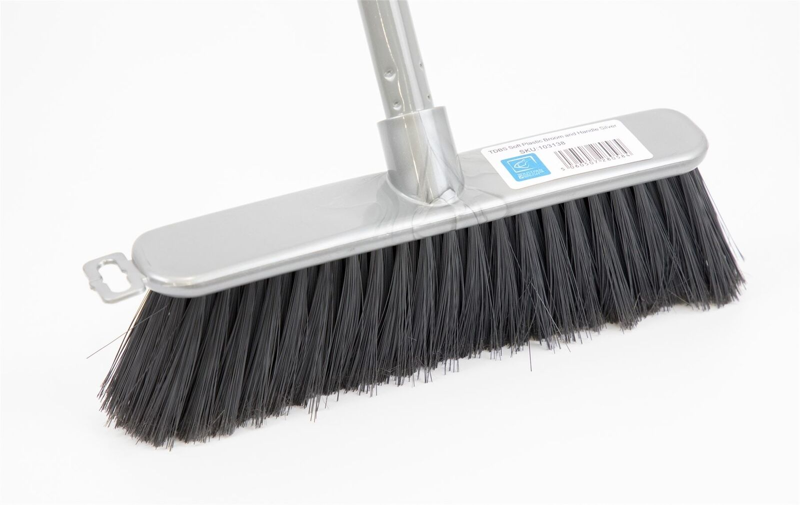 Silver Indoor Soft Sweeping Brush Head and Handle Kitchen Broom ...