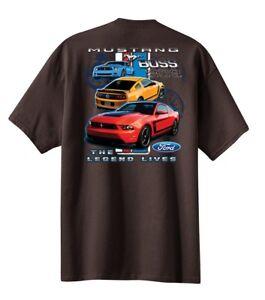 5e6189f7 Mens Ford Logo Mustang Boss 302 T-shirt Legend Lives Design Car ...