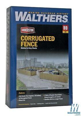 Walthers #933-3632 Cornerstone HO Corrugated Fence Kit