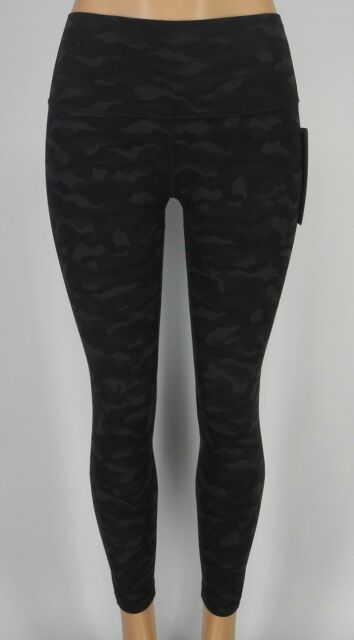 9f7f8ba971 NEW LULULEMON Align Pant II 2 10 12 Sequoia Camo Print Deep Coal Black 25