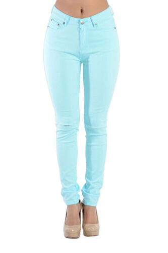 American Bazi High Waisted Colored Ripped Skinny Pants Pencil Trousers-RJH370-N7