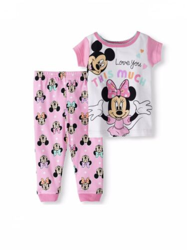 Disney Baby Girls 24 Months 2 Piece Pajama Set Mickey Minnie Mouse Loves You