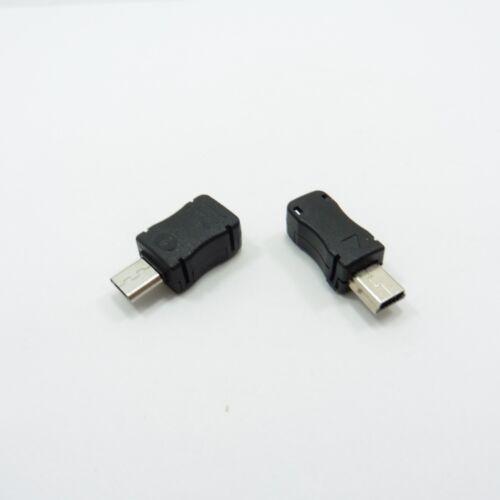 Maschio USB tipo B micro//mini attacco con Coperchio Connettore 5Pin