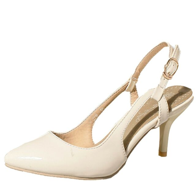 92a6f72d3ca6 Plus Size Shoes Ladies Womens Ankle Strap High Heel Sandals 1 2 3 4 5 6 7 8  9 10 Beige UK 10.5 ( Size Tag CN 46) for sale online