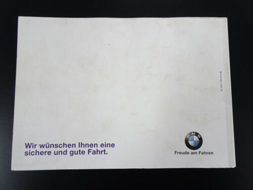 BMW 5er E39 Handbuch Betriebsanleitung Bedienungsanleitung Bordbuch 2000 Orig