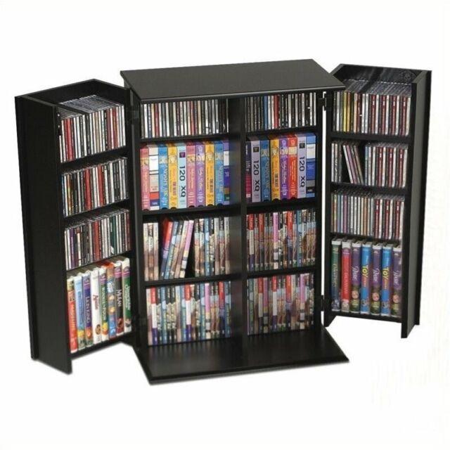 Strange Bowery Hill 34 Locking Cd Dvd Media Storage Cabinet In Black Download Free Architecture Designs Scobabritishbridgeorg