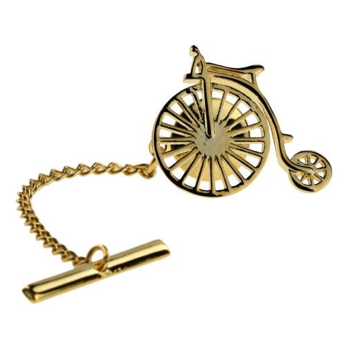 Gold Plated Penny Farthing Lapel Badge Tie Tac XAJTT896
