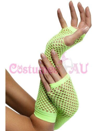 Smiffys Authentic Fishnet Gloves Dance Disco 80s Fingerless Costume Accessories