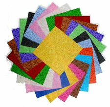 """75- 4 inch Quilting Fabric Squares Beautiful Curly Swirls Tonals 1 !!!!!4"""""""