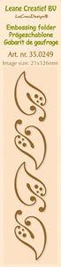 Leane-Creatief-Borde-Plantilla-De-Textura-HOJAS-14-9-x-3-5cm-35-0249