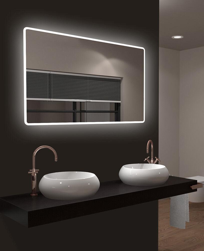 TALOS MOON 120x70cm LED Badezimmerspiegel mit Beleuchtung Badspiegel Wandspiegel