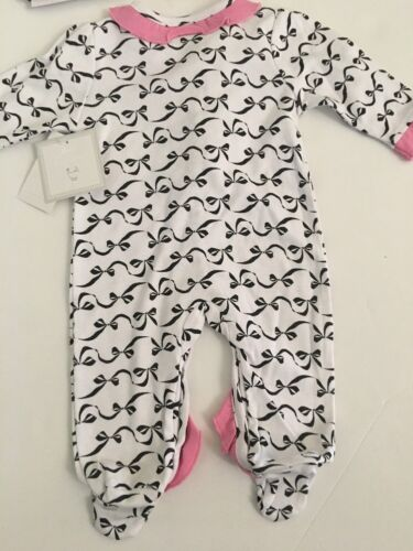 Baby Essentials Girl Coverall Hat Set Size NEWBORN 3 6 9 months Pink Ruffle Bows