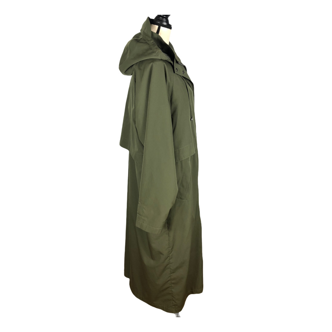 L.L. Bean Olive Green Wool Liner Trench Coat     … - image 2