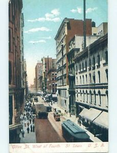 Unused-Divided-Back-STREET-SCENE-St-Louis-Missouri-MO-hp2280