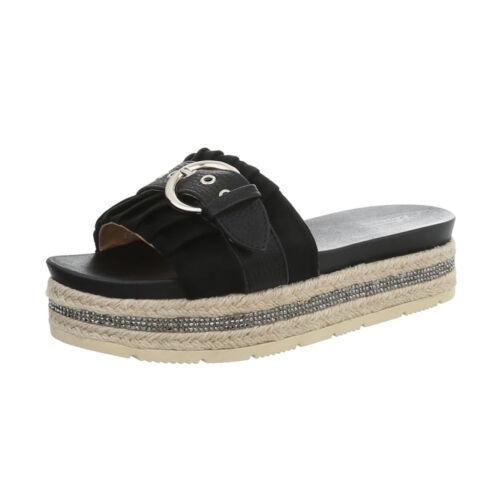 Pantoletten Sandalen /& Sandaletten Pantoletten Damenschuhe 3858 Ital-design