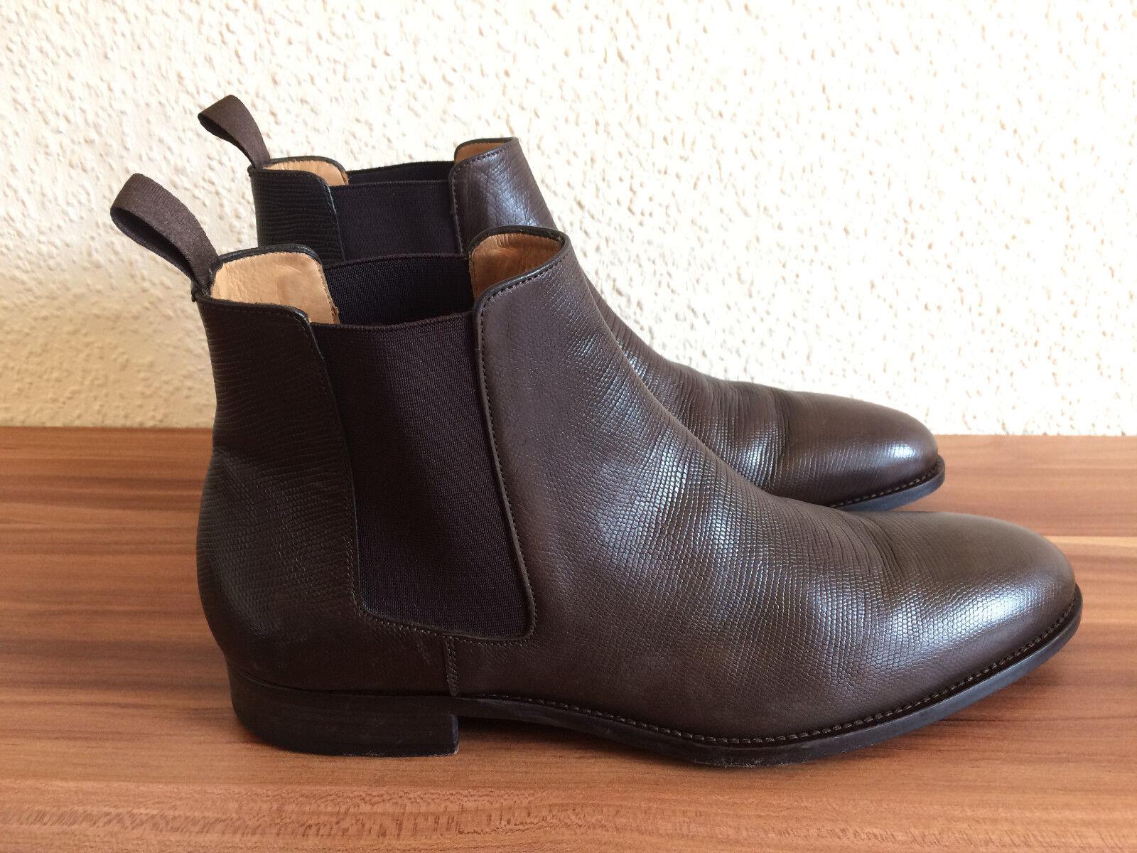 Super Baldessarini Hugo Boss Stiefelette Chelsea 45 Boots Schuhe Leder Gr. 45 Chelsea Top 95fef0