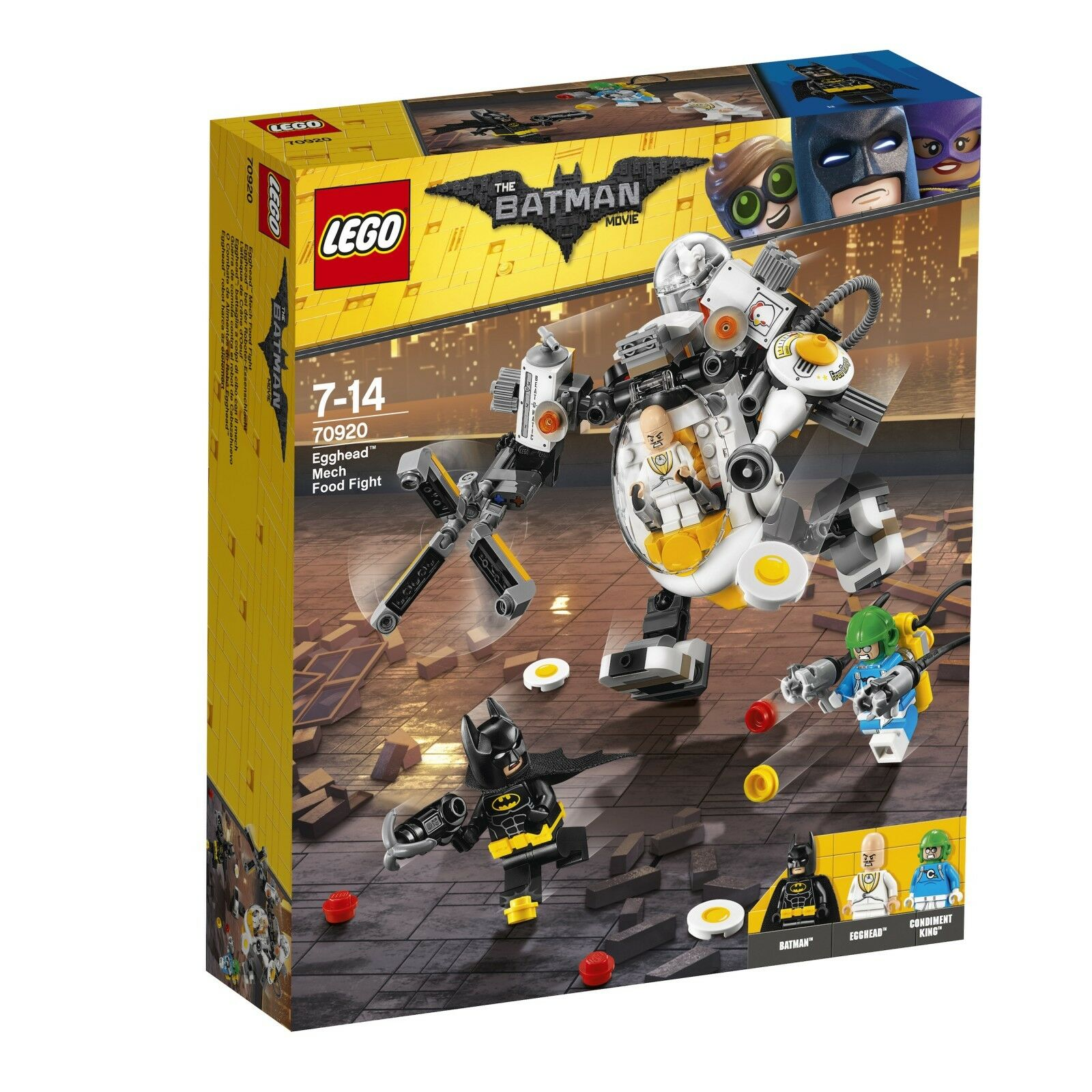 The LEGO ® Batman movie 70920 Egghead ™ presso il robot-cibo BATTAGLIA NUOVO OVP NEW