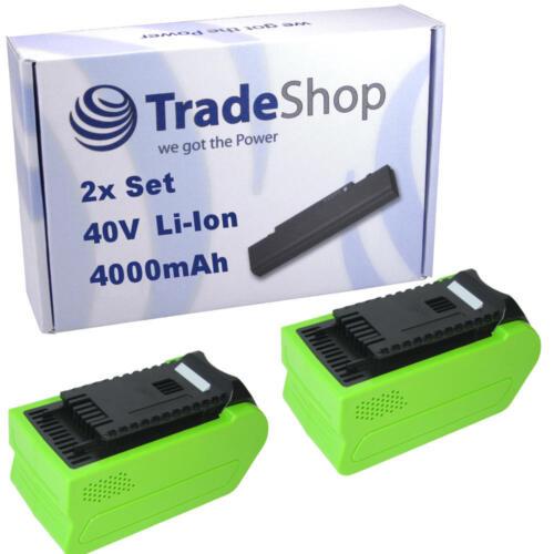 2x Hochleistungs AKKU 40V 4000mAh Li-Ion für Greenworks Tools Hochentaster 20157