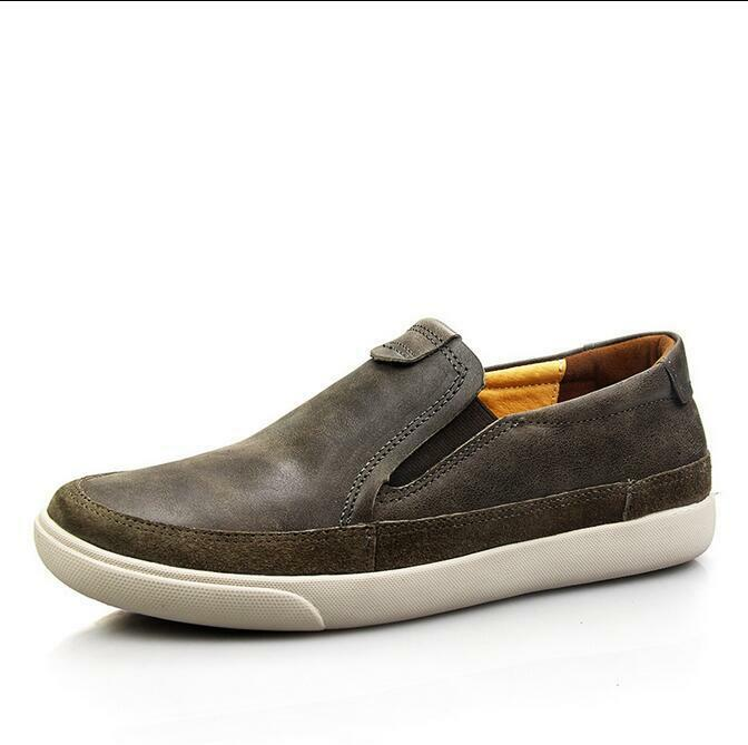 US7-10 New Uomo Round Toe Pelle Slip On Flat Casual Dress Formal Shoes Loafers