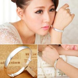 New-Fashion-Women-925-Sterling-Silver-Charm-Bracelet-Bangle-Jewelry-Gift