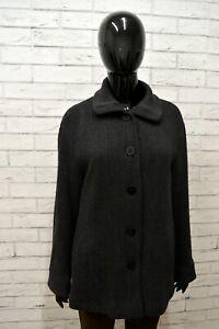 newest 6bd13 bfc72 Dettagli su ARMANI COLLEZIONI Donna Giacca Invernale in Lana Grigio  Cappotto Jacket Woman 50