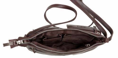 New Multi Pocket Genuine Real Leather Shoulder Bag Handbag Ladies Women/'s Girls