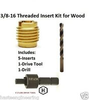 E-z Lok 3/8-16 Threaded Insert Installation Kit For Wood E-z Lok P/n Ez-400-6