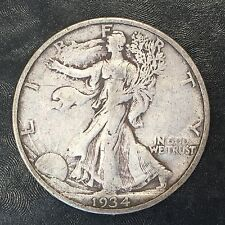 1934 S XF Walking Liberty Half Dollar