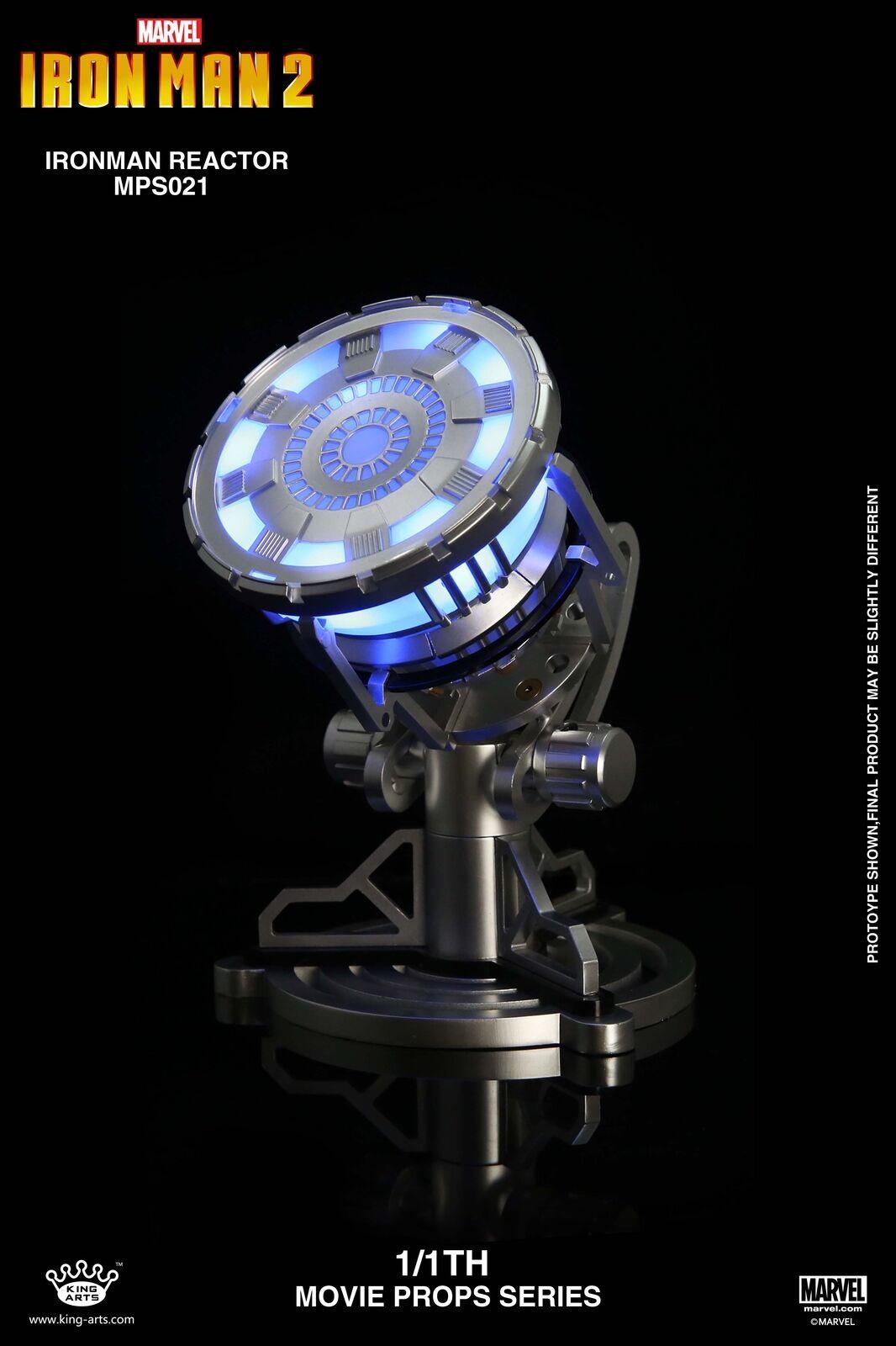 King Arts 1 1 MPS021 Iron Man 2 LED Light Up Arc Reactor New