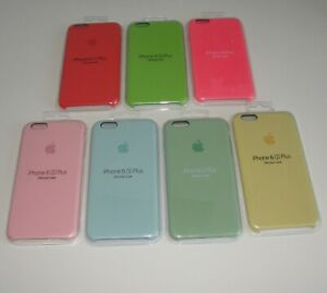 Genuine Authentic Apple Silicone Case Iphone 6s Plus 6 Plus Red Green Blue Gold Ebay