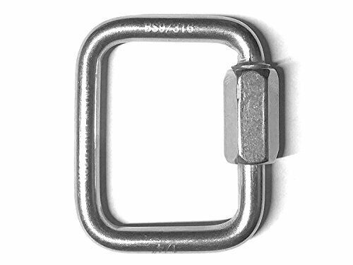 "6mm Stainless Steel 316 Square Quick Link 1//4/"" Marine Grade Boating or Rigging"