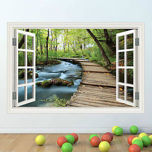 Adroit Jungle Walk Cadre De Fenêtre Full Colour Wall Sticker Decal Transfert Graphique Wsd333-afficher Le Titre D'origine Effet éVident