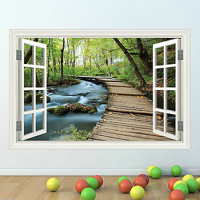 Jungle Walk Window Frame Full Colour wall sticker decal transfer mural Graphic