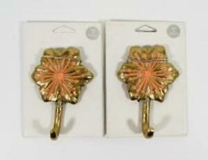 Opalhouse Wall Decor Gold Hook Hanger w// Coral Flower Target