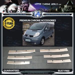 FITS-TO-RENAULT-TRAFIC-CHROME-GRILLE-COVERS-5y-GUARANTEE-2001-2014-SUPER-OFFER