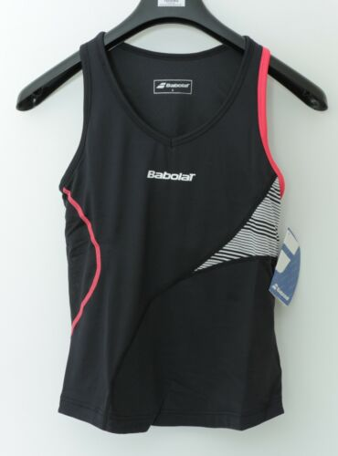 50/%SALE Funktions-Tanktop mit Bra Babolat Performance Tennis-TANK schwarz//pink